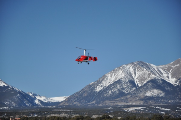 Flying my Xenon gyroplane in the Colorado Rockies